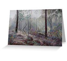 A Wickham Misty Morning Greeting Card