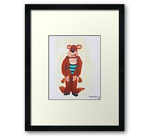 Master Rimrod esq - If you're Gonna be a bear......... Be a GRIZZLY! Framed Print