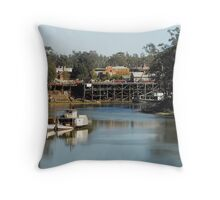 Echuca Wharf Throw Pillow