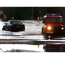 Floods in Tewkesbury July 2007 Photographic Print