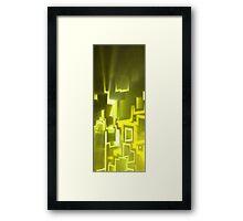 yellow doors Framed Print
