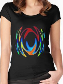 Dance In Color Women's Fitted Scoop T-Shirt