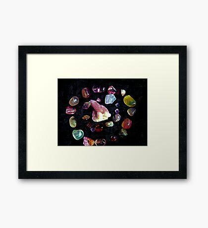 crown  chakra stones  Framed Print