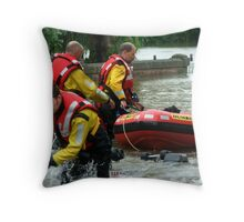 Rescue Workers Throw Pillow