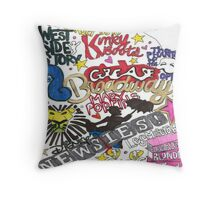 Broadway Shows collage Throw Pillow