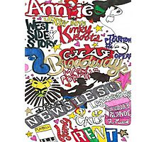 Broadway Shows collage Photographic Print