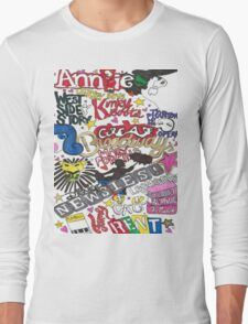 Broadway Shows collage Long Sleeve T-Shirt
