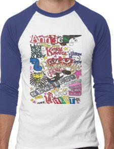 Broadway Shows collage Men's Baseball ¾ T-Shirt