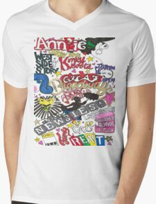 Broadway Shows collage Mens V-Neck T-Shirt