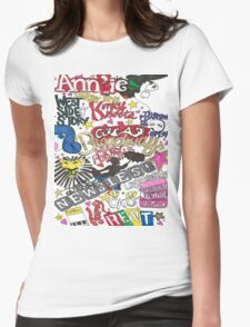 Broadway Shows collage Womens Fitted T-Shirt