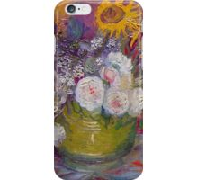 'Still Life with Roses and Sunflowers' by Vincent Van Gogh (Reproduction) iPhone Case/Skin