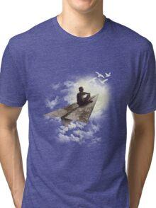 Paper Aeroplane Tri-blend T-Shirt
