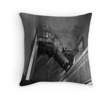 Don't Go Upstairs Throw Pillow