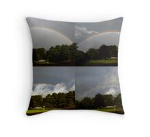 Morning Rainbow Progression Throw Pillow