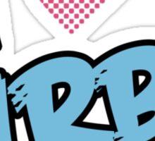 I heart KIRBY Sticker