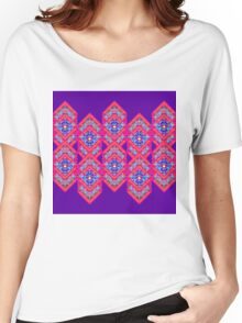 Squared Purple Women's Relaxed Fit T-Shirt