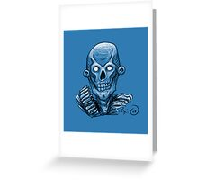 Zombie Skull Head Greeting Card