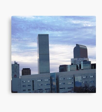 CLOUDY DENVER VALENTINE Canvas Print