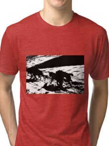 Sled Dogs in Prescott Park, Portsmouth, NH Tri-blend T-Shirt