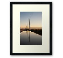Telephone Pole Reflection Framed Print