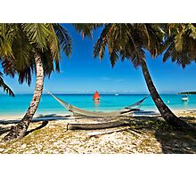 Red Sail and Hammock Photographic Print