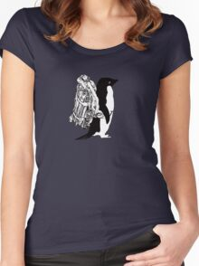 Jet Pack Penguin Women's Fitted Scoop T-Shirt