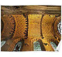 Ceiling of Rosslyn Chapel, Roslin, Scotland Poster