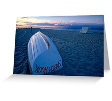 Boat on the New Jersey Shore Greeting Card