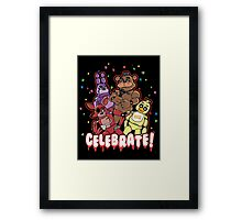 Five Nights At Freddy's Celebrate! Framed Print