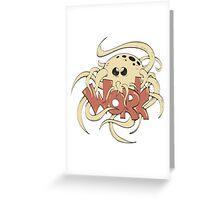 octopus entwine word work Greeting Card