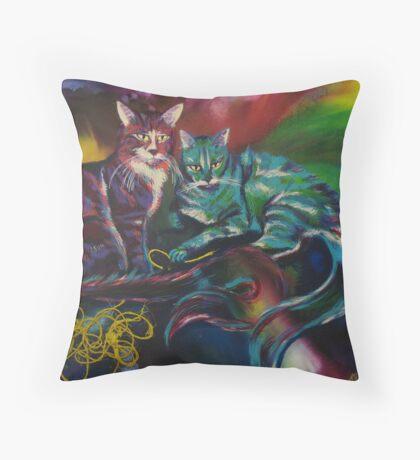 Flemington & Solomon (Cats) Throw Pillow
