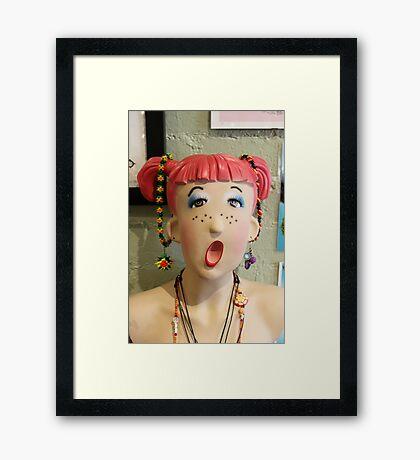 So silly..... Framed Print