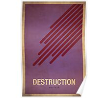Destruction Warlock - WoW Minimalism Poster