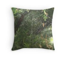 Watery web Throw Pillow