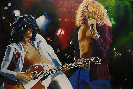 Jimmy & Robert (Led Zeppelin) by Kieran  Sturgeon