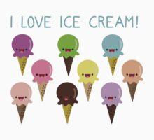 I love Ice Cream Kids Clothes