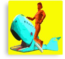 The Tulsa Driller Rides the Blue Whale Canvas Print