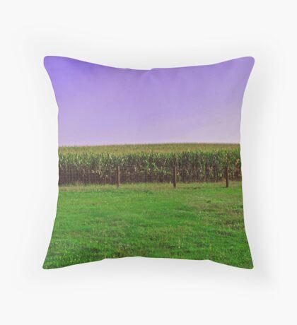 Corn Around The Barnyard Throw Pillow