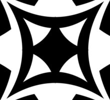 Black and white starry square Sticker
