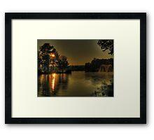 Sunset Pond Framed Print