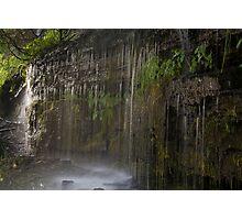 Ledge Rain Photographic Print