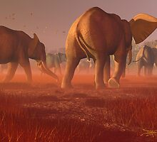 Sands of the Serengeti by Dieter Carlton