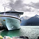 Cruise Ship in Skagway, AK Harbor by Vickie Emms