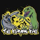 Till Flames Fall- The Raccoon vs. The Raptor by Serianni