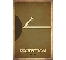 Protection Warrior - WoW Minimalism Photographic Print