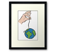 """So you think you can hold the world up by a string"" Framed Print"