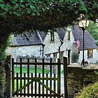 A pleasant view from the church gates. by Clive Lewis-Hopkins.