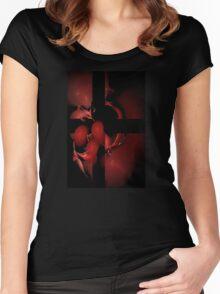 Liquid Light - Cross My Heart Women's Fitted Scoop T-Shirt