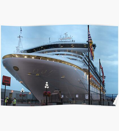 Now that is a big ship..... Poster