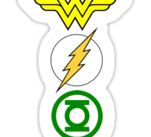 Justice League Logos Sticker